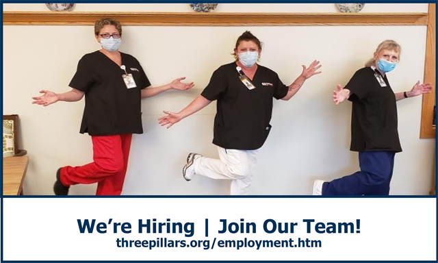 We're hiring - apply online now at ThreePillars.org