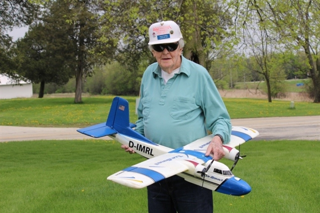 Chuck Hocking with Radio Controlled Airplane