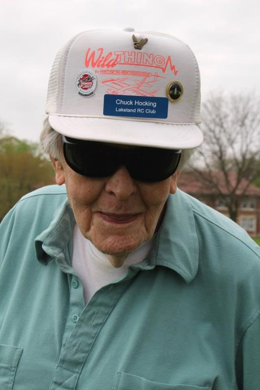 Chuck Hocking smiling in his Lakeland RC Flying Club hat