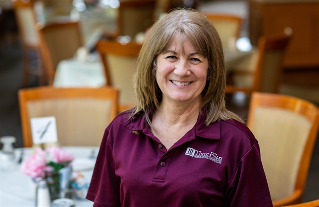 Jodi Unke is a Dining Services Assistant at Three Pillars Senior Living Communities in Dousman, WI