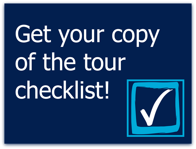 get a free printable copy of the tour checklist