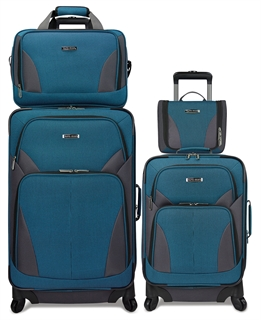 Rolling stackable luggage