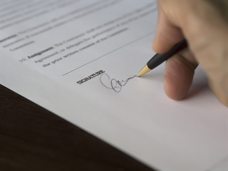 Signature on Paperwork