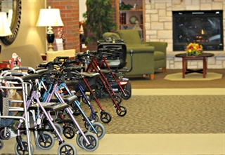 Buying a walker, tips, rollator, senior living community